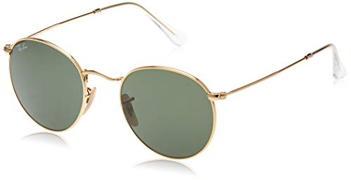 Ray-Ban unisex adult Rb3447 Metal Sunglasses, Gold/Green, 47 mm US