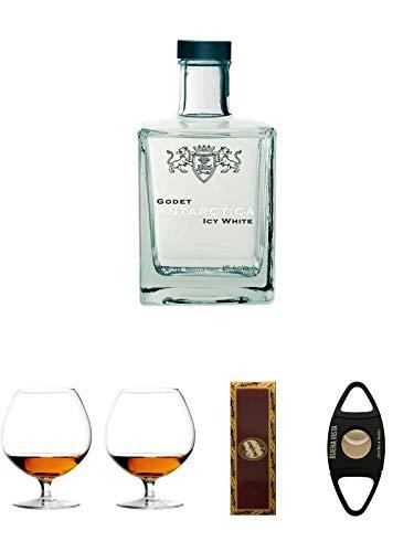Godet Icy Antartica Cognac 0,5 Liter + Cognacglas/Schwenker Stölzle 1 Stück - 103/18 + Cognacglas/Schwenker Stölzle 1 Stück - 103/18 + BrickHouse Streichhölzer + Buena Vista Zigarrencutter