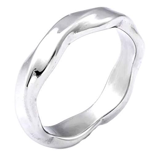 (A) 指輪 リング メンズ アルゴンステンレスリング(SRV172)サイズ/20号 シンプル ツイスト デザイン アンティーク プレーン マリッジリング シルバー サージカルステンレス