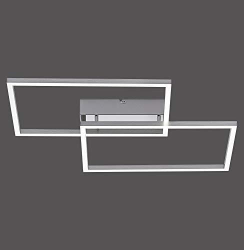Design LED Decken Leuchte Wohn Zimmer Flur Lampe CCT FERNBEDIENUNG silber Leuchten Direkt 14018-55