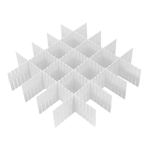WeFoonLo 8pcs DIY Plastikfach Organisator justierbare Fach Teiler für Haus Tidy Closet, Socken, Unterwäsche, Büroschulbedarf, Küchegerätwerkzeuge (Weiß)