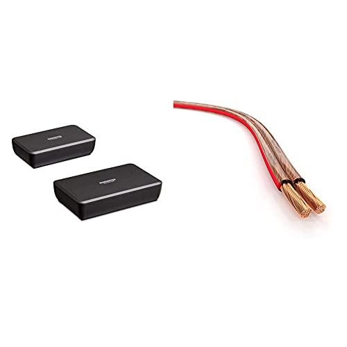 Marmitek Surround Anywhere 221 Transmisor de Audio Digital conexión inalámbrica con Altavoces Surround + KabelDirekt – 15m Cable de Altavoces
