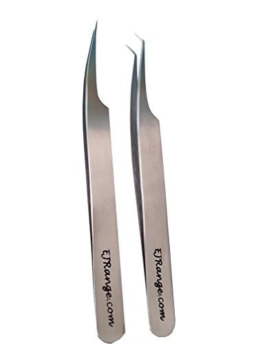 Pinzette gerade gebogen für individuelle Wimpernverlängerung | Wimpernpinzette Professionell Edelstahl