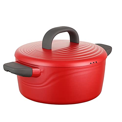 Utensilios de cocina al vapor Bottine, olla de sopa de aleación de aluminio, sartén, olla de cocina (24 cm), para cocina de inducción, estufa de gas Charola para hornear