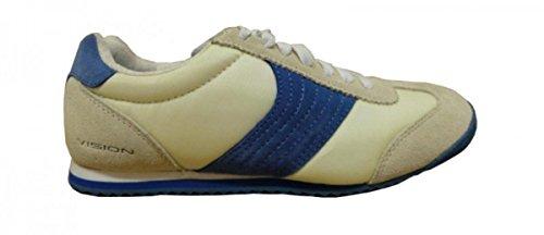 Vision Street Wear Skateboard Schuhe Sneakers Low Beige/Navy, Schuhgrösse:42