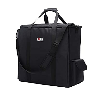 BUBM Desktop Computer Carrying Case, Padded Nylon Carry Tote Bag for Transporting Computer Tower PC Chassis, Keyboard, Cable and Mouse
