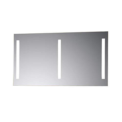 LEBENSwohnART KROLLMANN Badspiegel TABI 130x70cm Wandspiegel mit Beleuchtung und Schalter