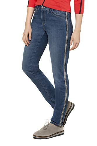 GINA LAURA Damen Jeans Julia, Galonstreifen, bequemer 5-Pocket-Schnitt Blue Denim 38 728610 92-38