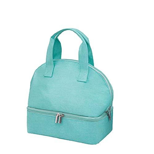 TKMON Nevera portátil, bolsa térmica reutilizable para oficina, escuela, tarta, picnic, camping, barbacoa, senderismo, viajes, pesca y playa, verde