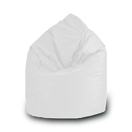 Pouf goutte imperméable en polyester pour extérieur 75 x 120 cm Taille L blanc