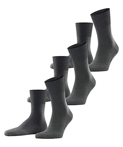 FALKE Unisex Run 3-Pack U SO Socken, Grau (Dark Grey 3970), 46-48 (UK 11-12.5 Ι US 12.5-13.5) (3er Pack)