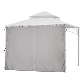 Yescom 11.6x6.5  Universal Privacy Side Wall Replacement Gazebo Top Curtain for 10x12ft Yard Garden Canopy Tent 1 Pack