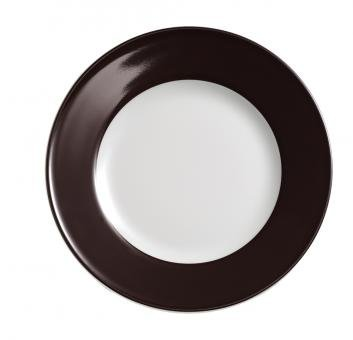 Dibbern Solid Color Teller flach 26 cm kaffeebraun