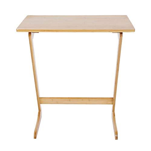 Mesa de sofá, color de madera de bambú en forma de Z de la tabla del sofá del sofá para el escritorio del ordenador portátil de Ministerio del Interior