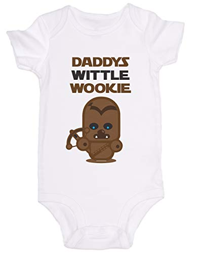 Promini Mono de bebé lindo – Daddys Wittle Wookie Star Wars Chewbacca – Body de bebé lindo bebé de una pieza body el mejor regalo para bebé