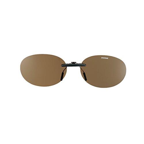 SWANS(スワンズ) 偏光 サングラス メガネにつける クリップオン 固定タイプ SCP-13 BR2 偏光ブラウン2