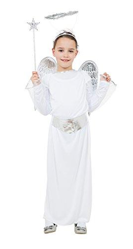 Bristol Novelty Cc343 Costume d'ange Budget pour Enfant Taille M, Âge 5–7 Ans, Silver, Moyen