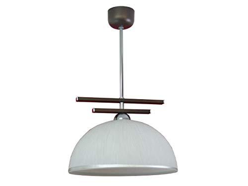 Suspension lampe design Bloom 223/Z1, Métal, wengé 60.0 wattsW