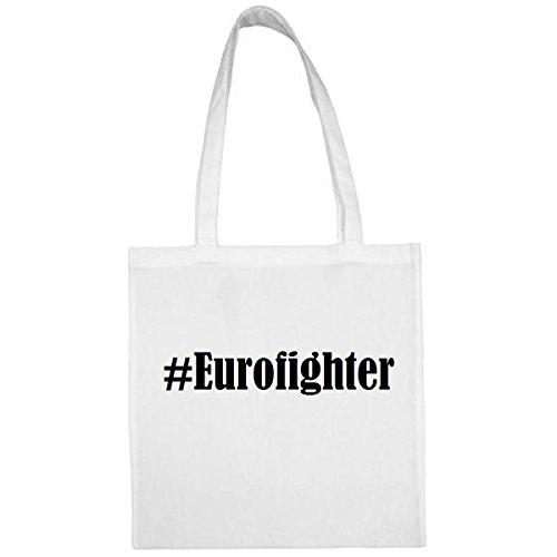 Tasche #Eurofighter Größe 38x42 Farbe Weiss Druck Schwarz