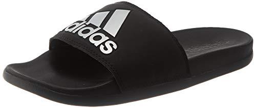 adidas Adilette Comfort, Slide Sandal Mujer, Core Black/Silver Metallic/Core Black, 40.5 EU