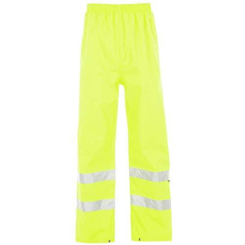 Dunlop Herren Hi Viz Wasserdicht Funktionshose Arbeitshose Hose Arbeitskleidung Gelb Extra LGE