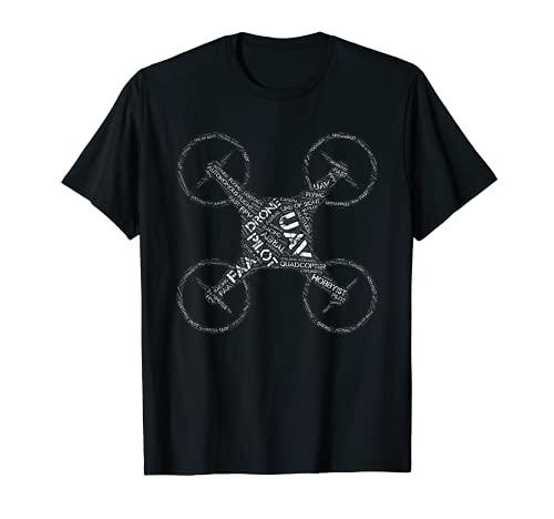 Quadcopter Drone Pilot Word Art T-Shirt T-Shirt
