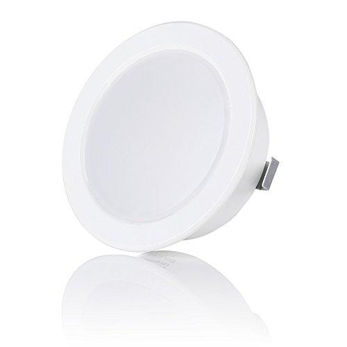 sweet-led 1-4er Pack, 3.5W LED, 12V IP44, Flache Möbelleuchte, Möbel Einbaustrahler Einbauleuchte, Badleuchte Einbauspot, ultra flach Mini Feuchtraum (1er-Weiß)
