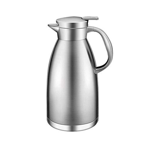 ZHHL Pot d'isolation de pot de vide, acier inoxydable de café de 1.8L (Couleur : Steel)