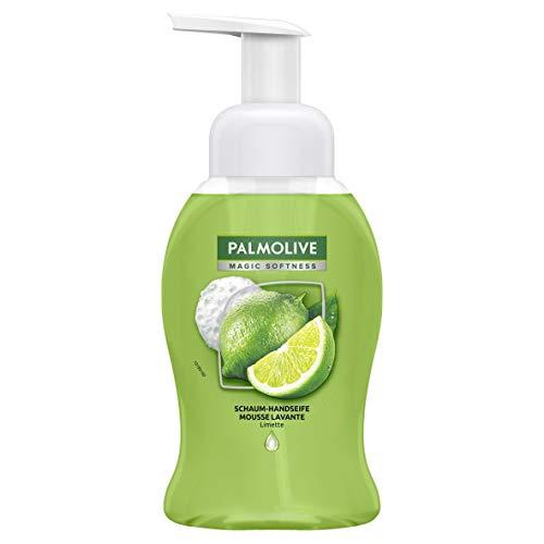 Palmolive Schaum-Handseife Magic Softness Limette, 250 ml - Flüssigseife zur sanften Reinigung der Hände mit antibakterieller Wirkung