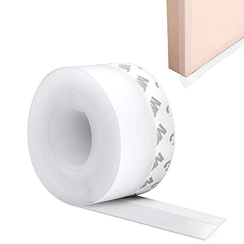 Paraspifferi Sottoporta Guarnizione per Porta e Finestre, 5M Guarnizioni Imbottito Parafreddo Nastro Sigillante Striscia Sigillante Adesiva, Draught Excluder Door Seal Tape Draft Stopper (45mm)