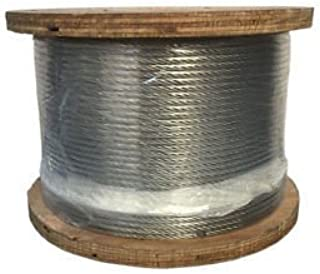 "PROLINEMAX 1000 Ft Grade 316 Stainless Steel 3/16"" 7x19 Cable Rail Railing Wire Rope 316SS"