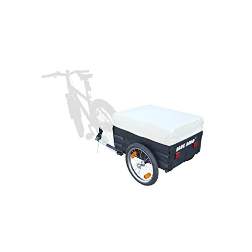 P4B | Fahrrad Transport Anhänger | Mit Abdeckplane | Rahmen vorne und hinten wegklappbar | 16-Zoll Luftbereifung