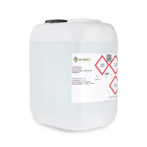 Make it Lab - Acqua Altamente Depurata - Grado Farmaceutico - per uso interno ed esterno - 5 litri