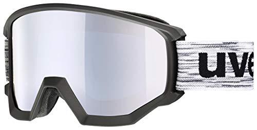 uvex unisex – vuxna, atletisk FM skidglasögon, svart matta, en storlek svart/vit En Storlek