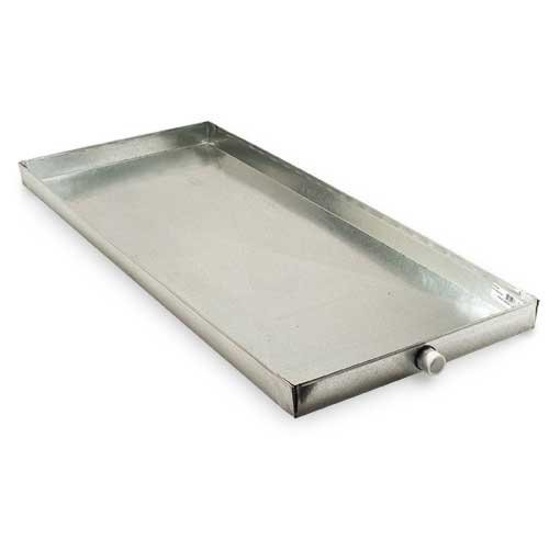 18 x 44 x 2 (WxLxH) Galvanized Metal Drain Pan for Multiple Uses