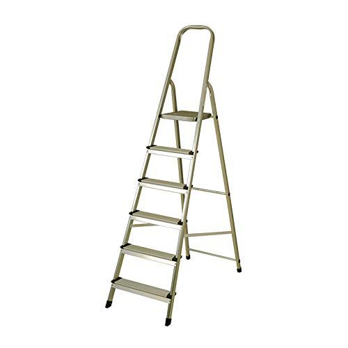 CATTER HOUSE KHG20006 - Escalera de Aluminio 6 Peldaños Alt. Máx. Trabajo...