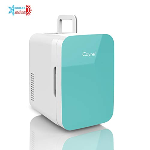 Caynel Mini Fridge Cooler and Warmer, (6 Liter / 8 Can) Portable Compact Personal Fridge, AC/DC Thermoelectric System, 100% Freon-Free Eco Friendly for Home, Office and Car