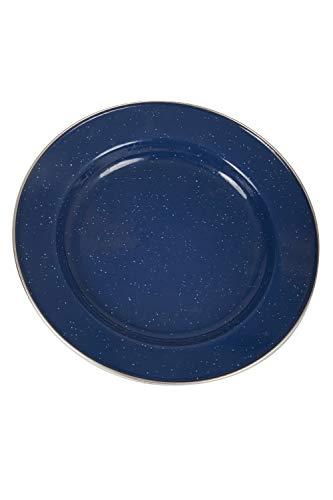 Mountain Warehouse Plaque - 25cm de diamètre vaisselle, Durable, émail revêtement & facile à propre vaisselle inox - pour les pique-niques, camping, marche Bleu Taille Unique