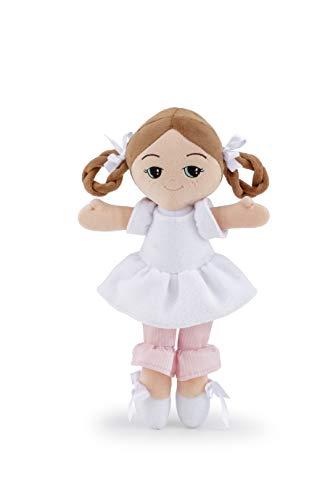 Trudi- Abito Bianco M Bambola Soft, Colore Rosa, 64458