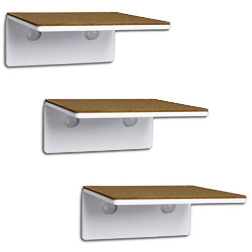 trelixx SEHR KLEINE Katzentreppe | Katzenleiter | Mini | aus weissem Acrylglas | dreistufig | 14x15 cm | für Katzen bis 5 kg | mit Korkauflagen | leichte Montage | TOP Design | Aufstiegshilfe