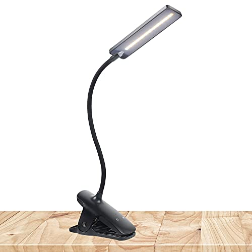 LED Reading Light with Clip - Deaunbr USB Rechargeable Book...