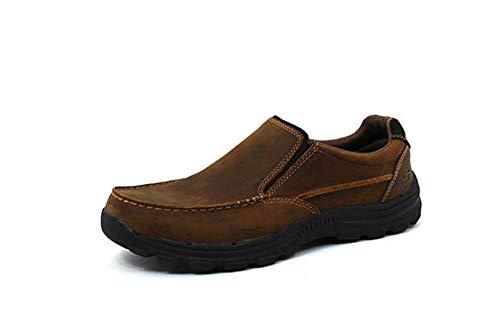 Skechers mens Relaxed Fit Braver - Rayland Slip On Loafer, Dark Brown, 11 Wide US