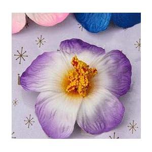 Artificial and Dried Flower 100pcs 9cm Foam Frangipane Frangipani Flower Sinensis Flower Head Artificial Tropical Hibiscus 16 Colors Foam Flower Heads – ( Color: Purple )