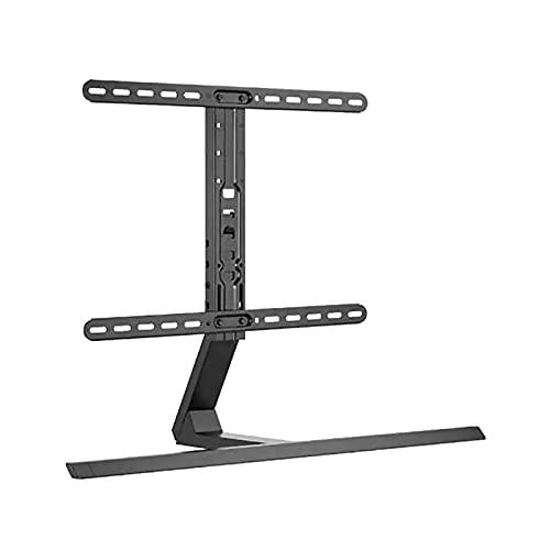 TELEVISIÓN LCD Soporte de escritorio ajustable en altura de altura universal ± 35 ° de escritorio giratorio TELEVISOR Mount Base para la mayoría de los televisores de pantalla plana de 37-75 pulgadas,