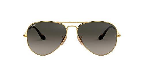 Ray-Ban Aviator Large Metal, Gafas de sol para Hombre, Dorado (Grey Gradient), 58