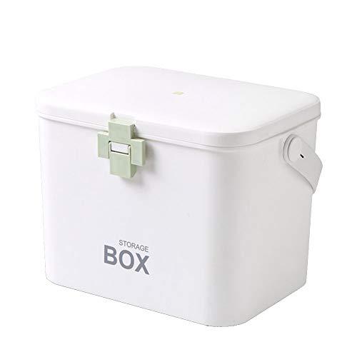 Ablageboxen tragbare Medizinbox - Medizinschrank Für Kinder - Aufbewahrungskasten Medizin Box mit Griff mit herausnehmbarem, Mit Einlegefach Kind Sicherheitsschloss