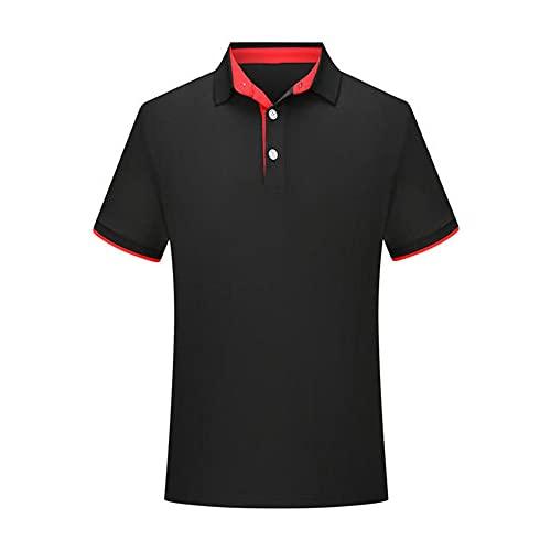 N\P Camisa de polo de manga corta para hombre, cuello de polo y ropa de golf