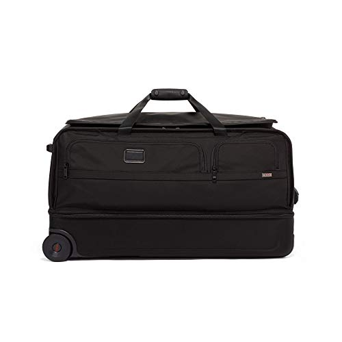 TUMI - Alpha 3 Large Split 2 Wheeled Duffel - Rolling Luggage for Men and Women - Black