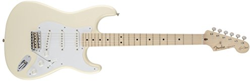Fender Eric Clapton Stratocaster Electric Guitar, Maple Fingerboard - Olympic White