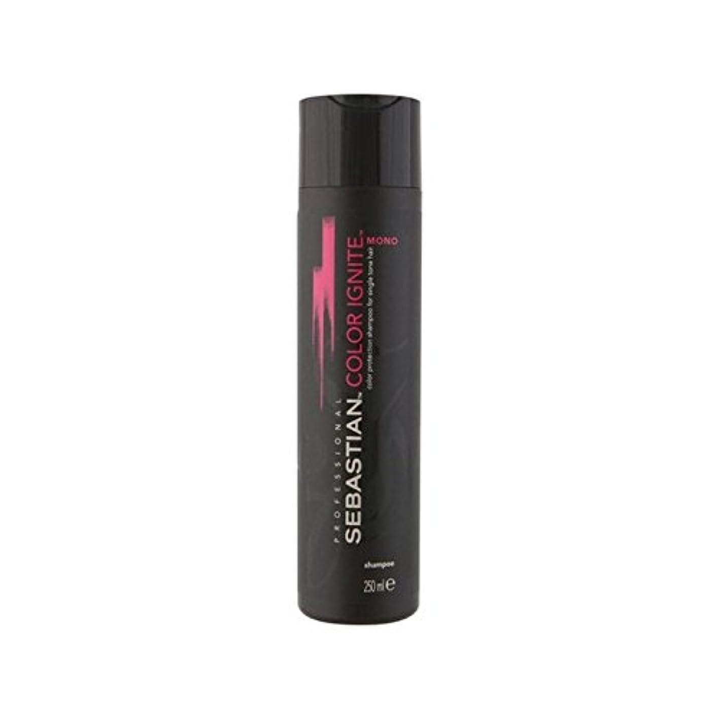 空気一杯想起セバスチャンプロのカラーにモノシャンプー(250ミリリットル) x4 - Sebastian Professional Color Ignite Mono Shampoo (250ml) (Pack of 4) [並行輸入品]